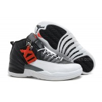 "Air Jordan 12 Retro ""Playoffs"" Black/White -Varsity Red For Sale"