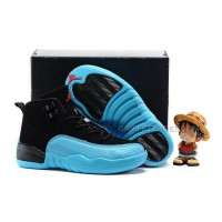 AJ12 kids air jordan 12 gamma blue 28---35