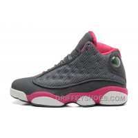 Womens Air Jordan 13 GS Retro Cool Grey/Fusion Pink-White Sale Cheap To Buy HEYzy