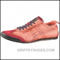 New Women Onitka Tiger Mexico 66 Deluxe Pink Red