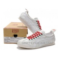 Women Mexico 66 Shoes Carve White Red Cheap